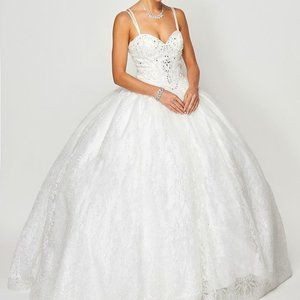 Sweetheart Neck Glittered Ballgown Dress JT1427